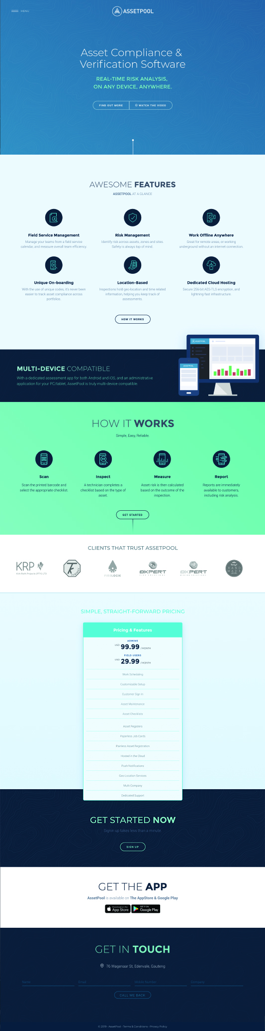 AssetPool website by Billow