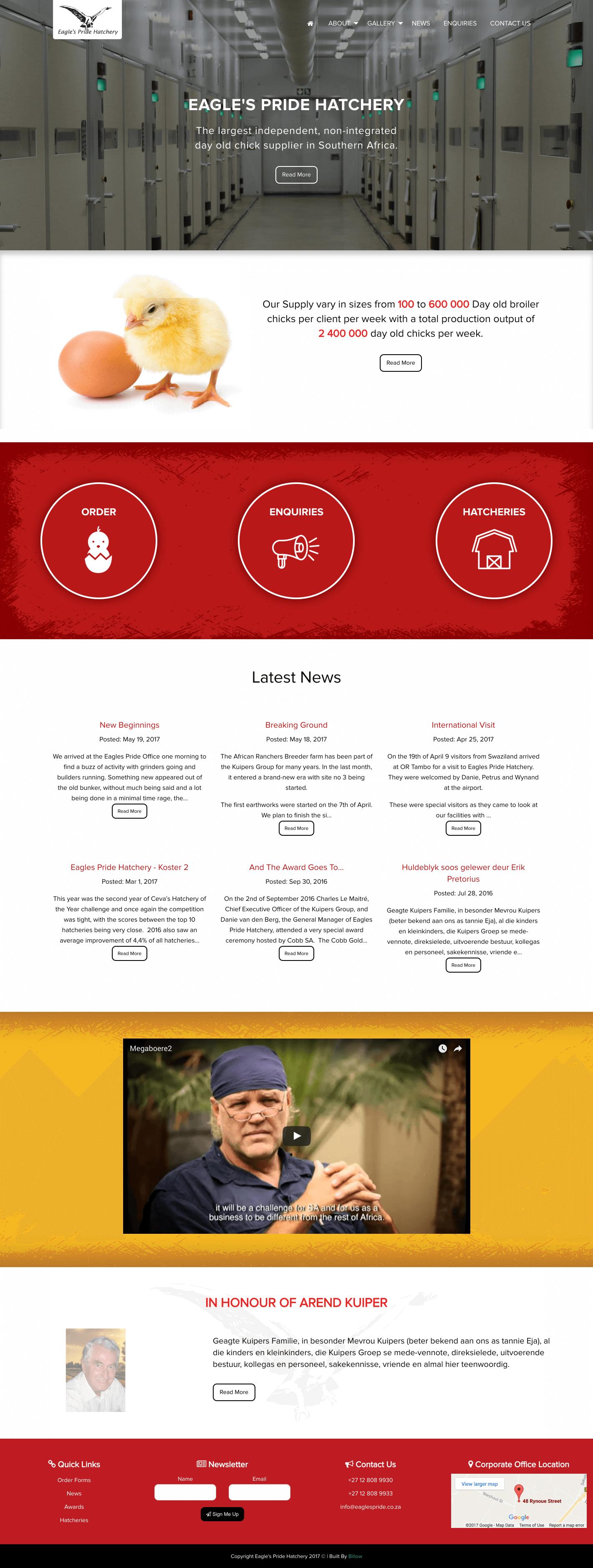 Eagles Pride website by Billow