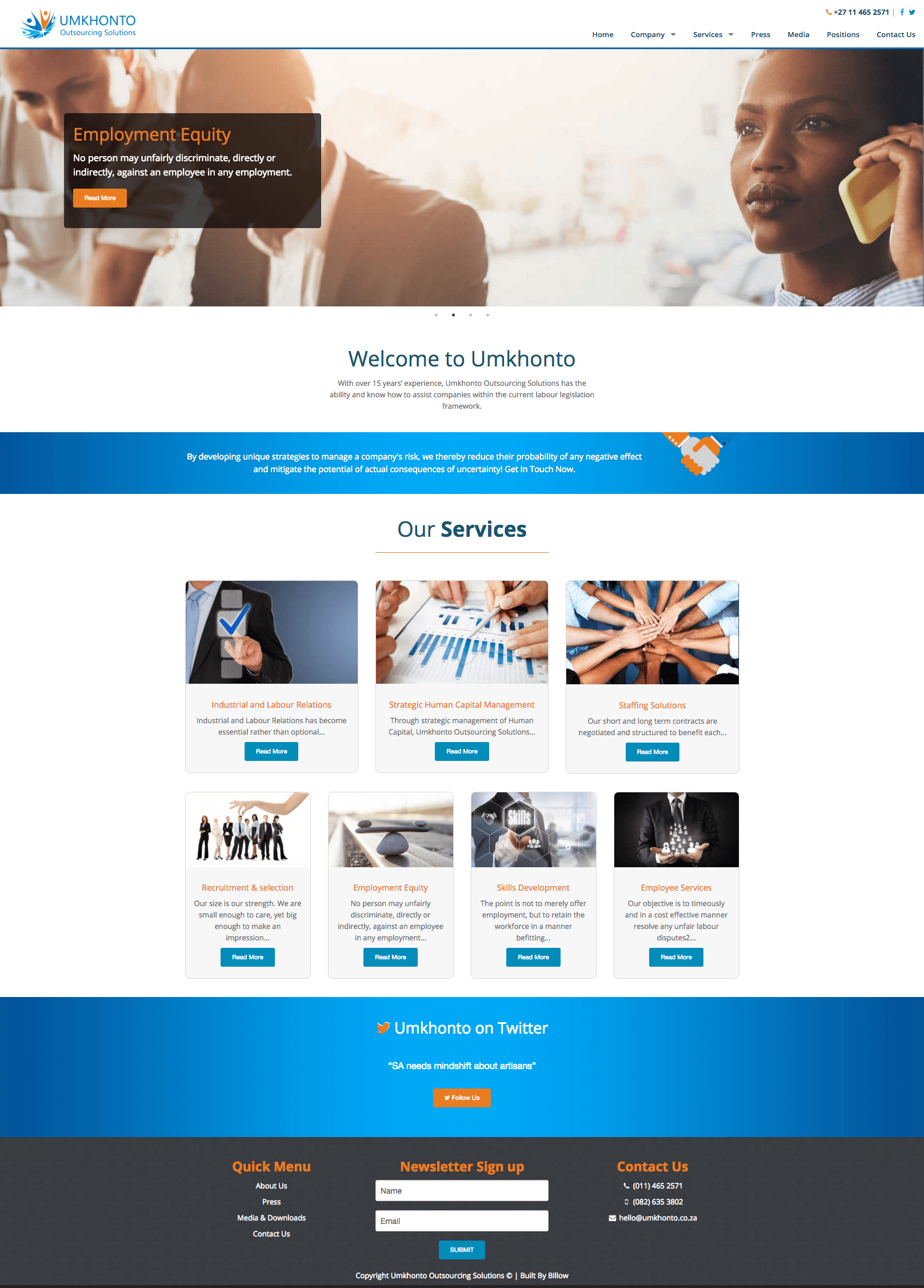 Umkhonto website by Billow